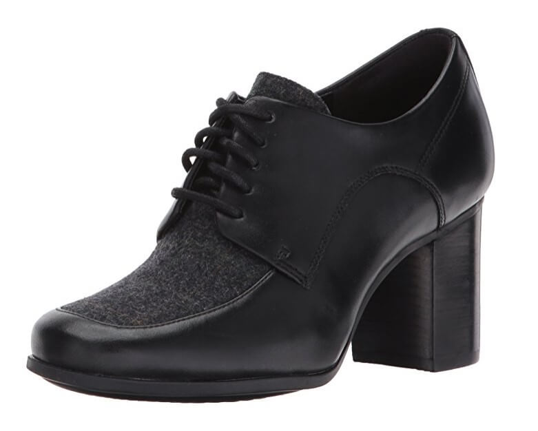 Clarks Kensett Darla oxford high heels