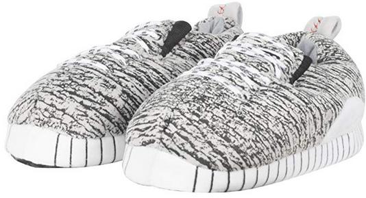 Uzzy Grey cozy sneaker slippers