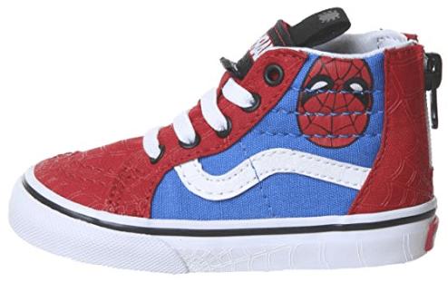 Vans Sk8 Hi spiderman shoes for kids