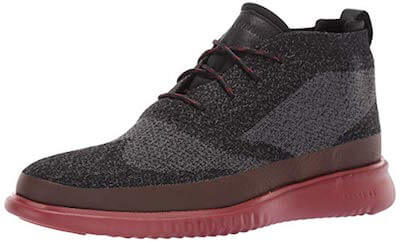 Cole Haan 2.ZERØGRAND Stitchlite Chukka red bottom boots