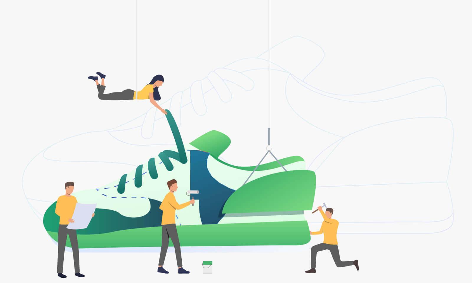 designing sneakers image