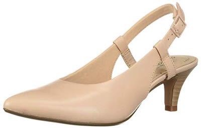 clarks linvale loop champagne heels