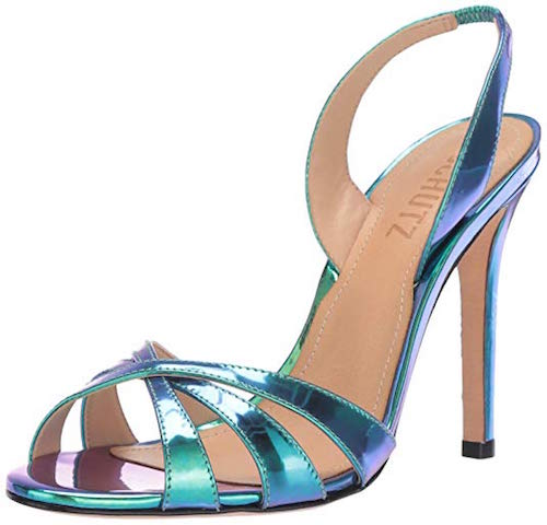 holographic shoes Schutz Chayanne