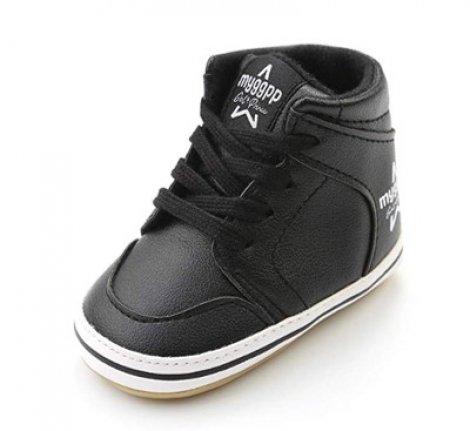 Antheron High Top hard bottom walking shoes for babies