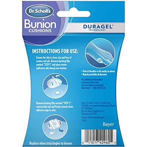 Best Bunion Straighteners Dr. Scholl's Bunion Cushions Duragel