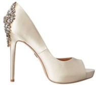 badgley mischka kiara champagne heels side view