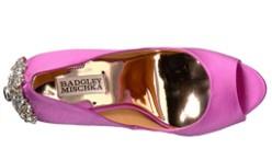 Badgley Mischka Kiara purple shoes top view