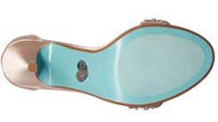 blue by betsey johnson gina champagne heels bottom view