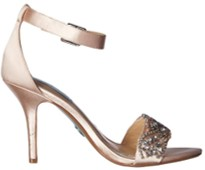 blue by betsey johnson gina champagne heels side view