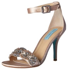 blue by betsey johnson gina champagne heels