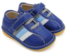 little mae's boutique navy squeaky shoes blue