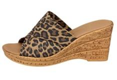 Onex Christina leopard print shoes side view