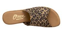 Onex Christina leopard print shoes top view