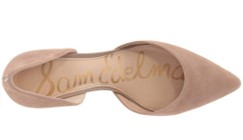 sam edelman telsa d'orsay champagne heels top view