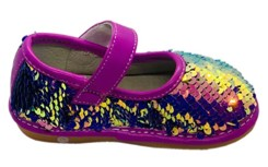 sofia sassy sequin squeaky shoes side view