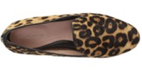 Taryn Rose Bryanna leopard print shoes top view