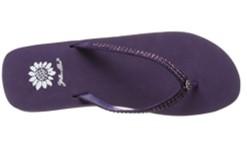 Yellow Box Jello purple shoes top view