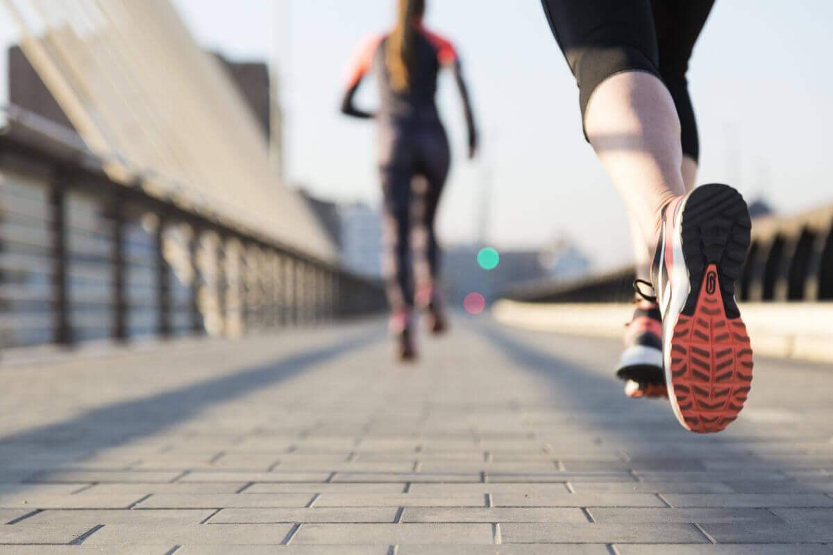 women running wearing running gear image