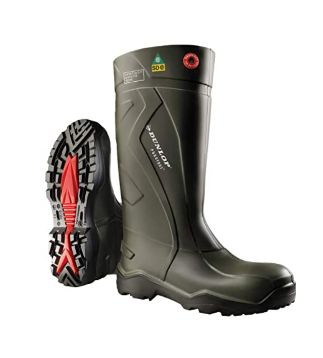 Dunlop Protective Footwear E76294311 Purofort Full Safety Boots with Steel Toey Best Wellington Boots