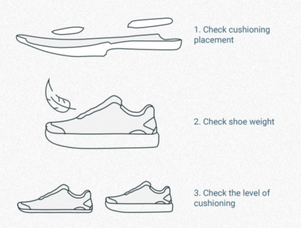 running shoe cushioning